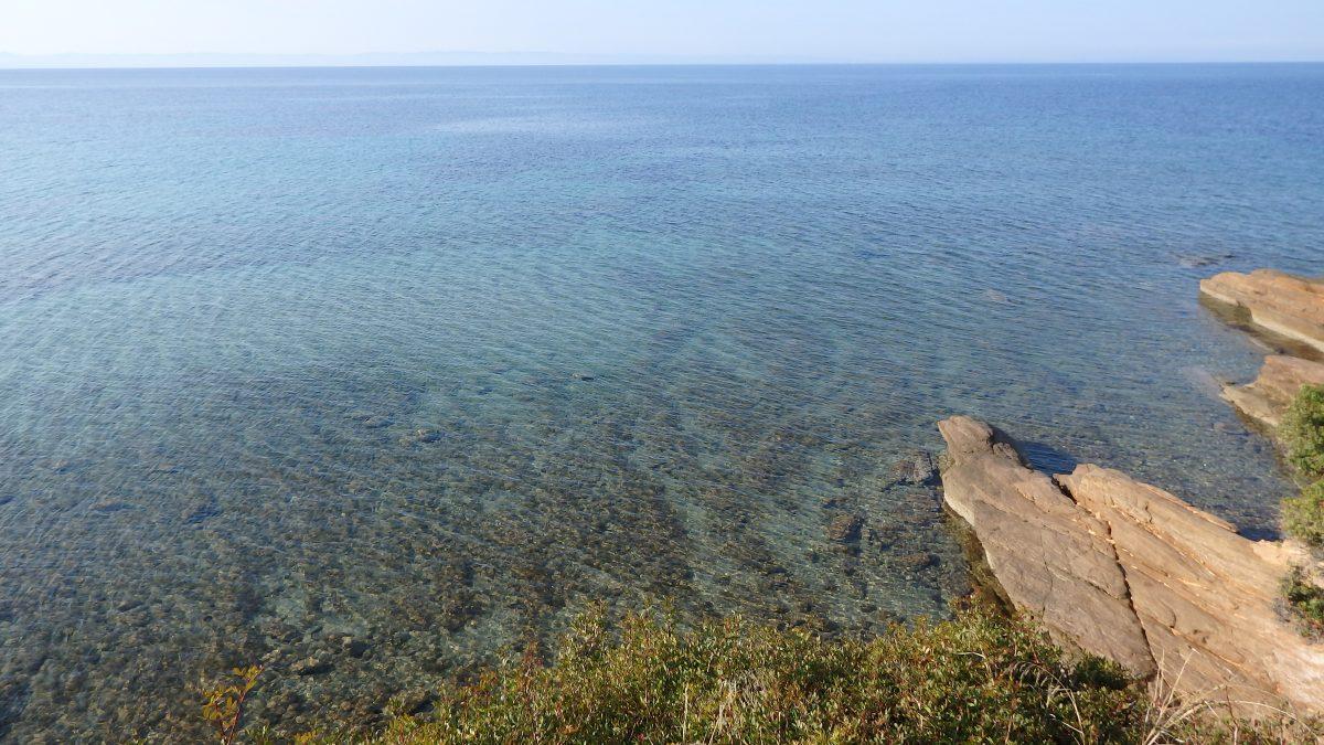 Άποψη από τη θέση προτεινόμενης αναπλήρωσης άμμου