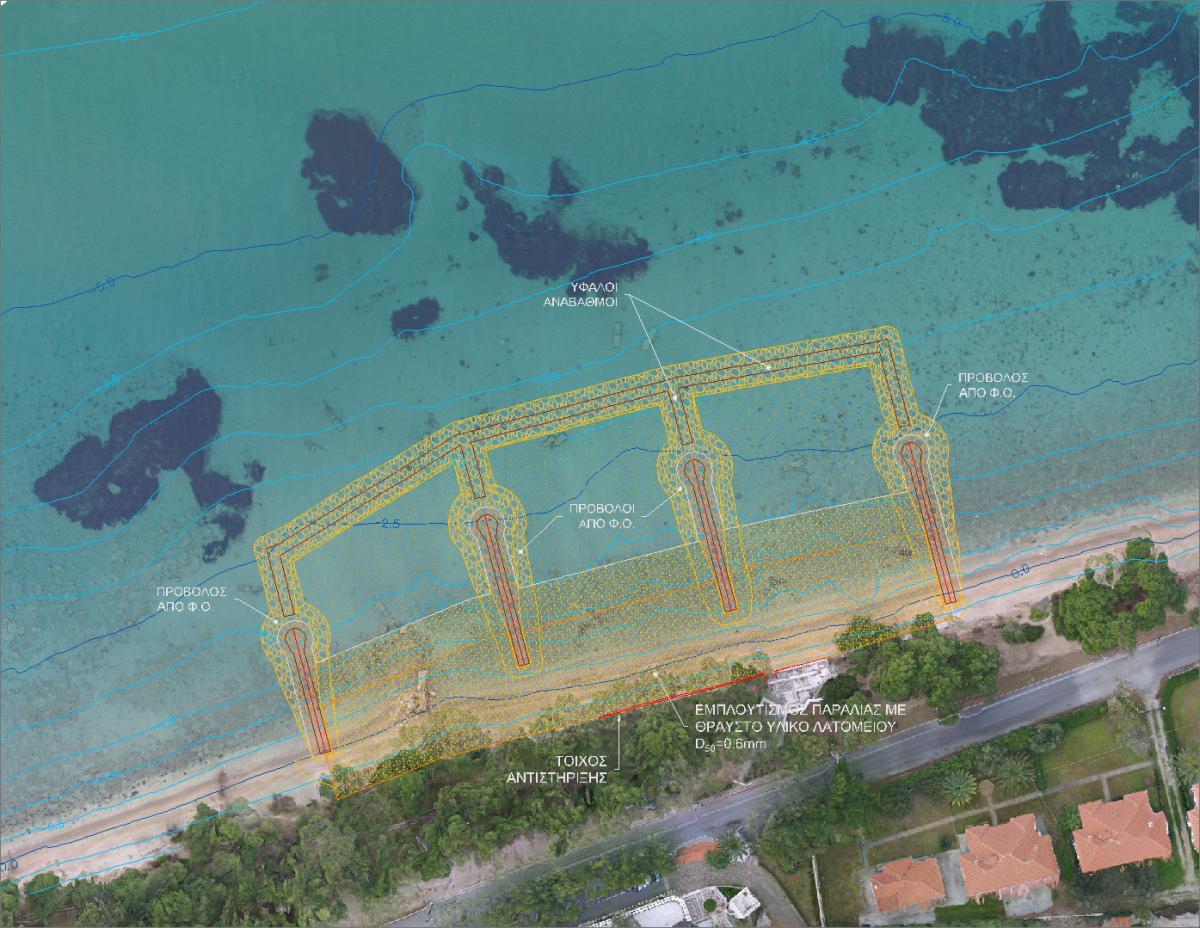 Προτεινόμενα έργα προστασίας ακτής Athena Pallas Village